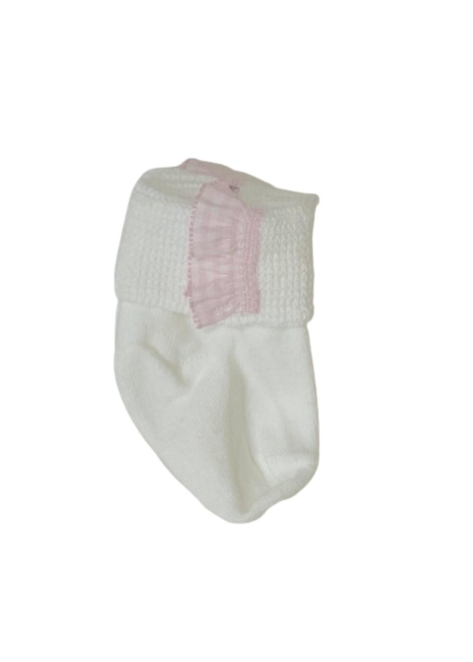 Royal Baby Royal Baby Pink Ruffle Trim Newborn Socks