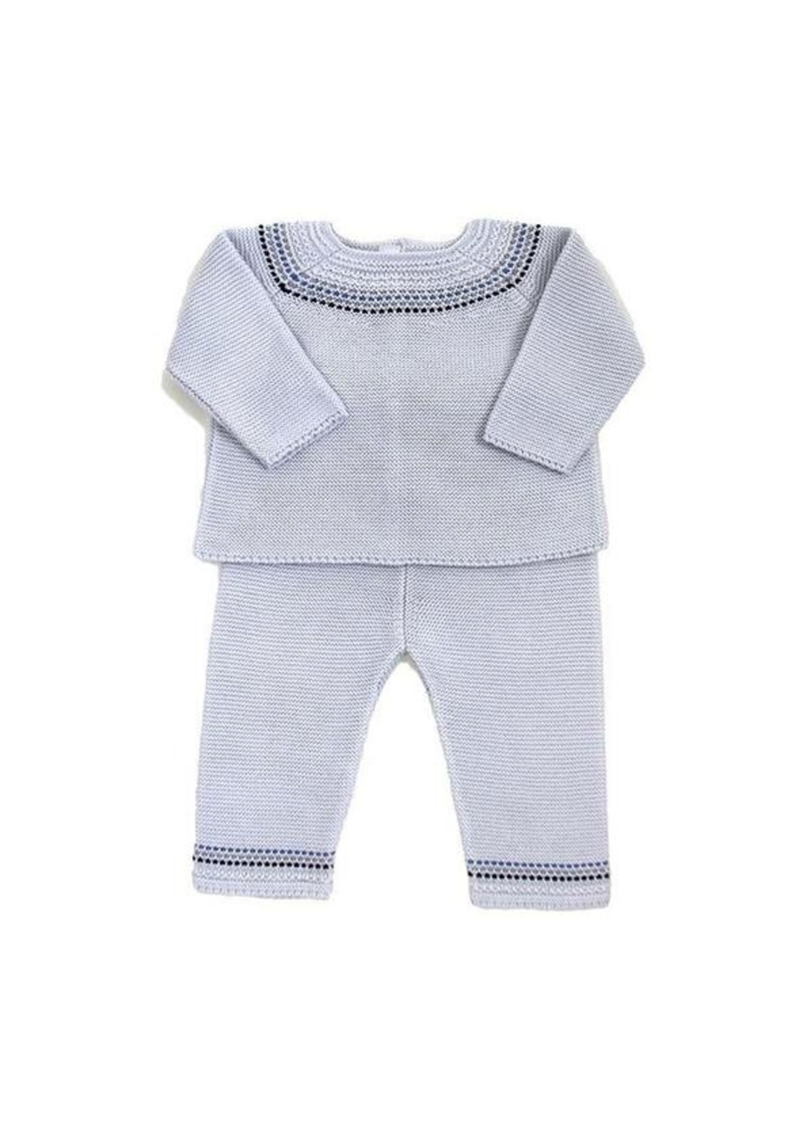 Cuclie Cuclie Fair Isle Grey Knit Pant Set