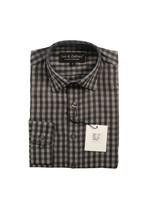 Boys Charcoal Gingham Dress Shirt