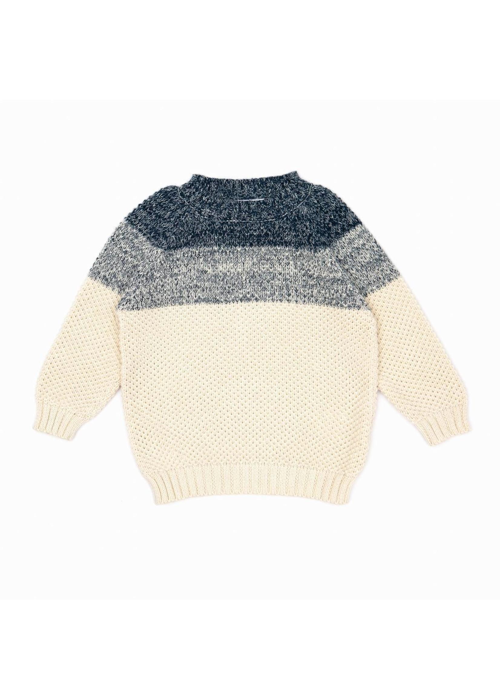 Tun Tun Tun Tun Navy Marl and Natural Lucas Sweater