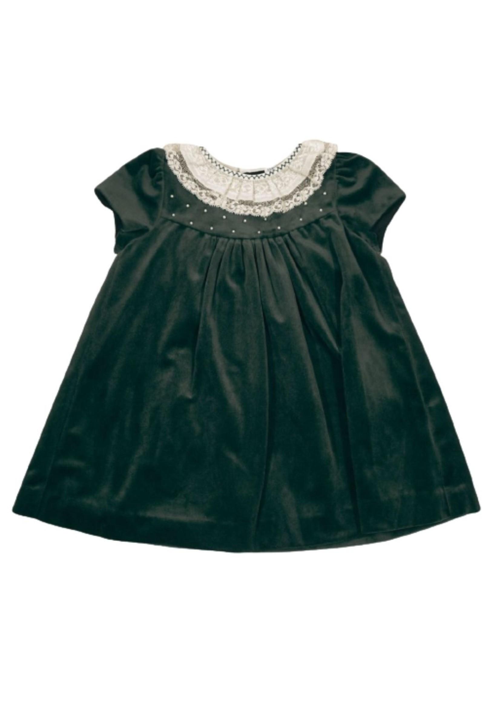 Luli & Me Luli & Me Black Velvet Dress