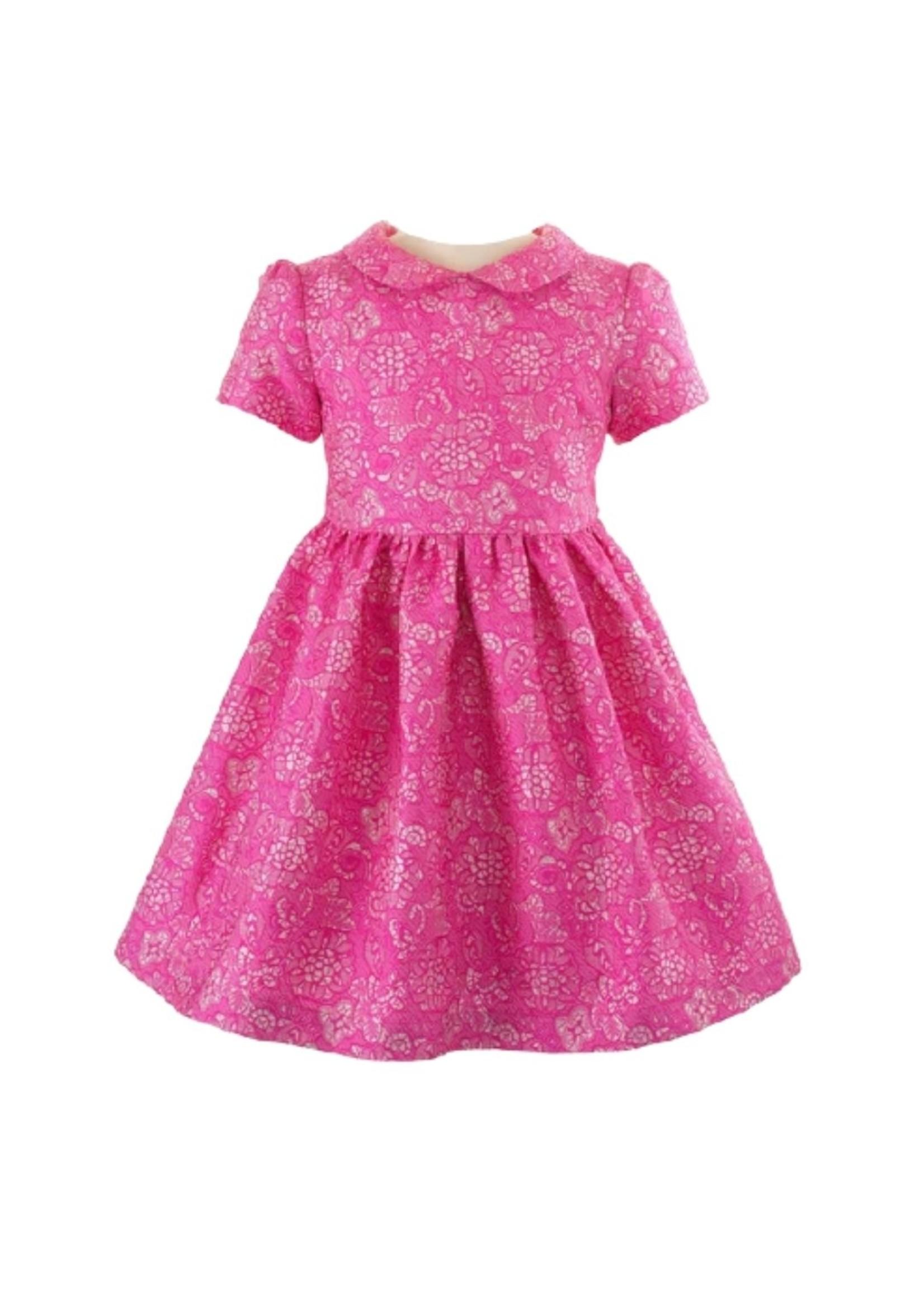 Rachel Riley Rachel Riley Lace Damask Party Dress