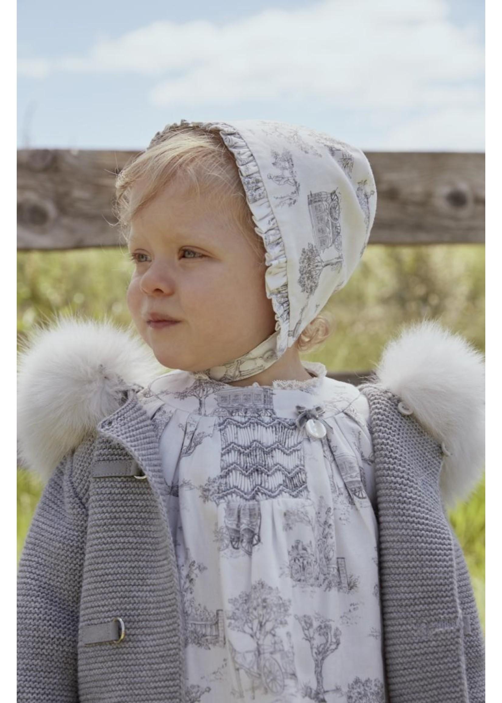 Grey Fur Knit Jacket
