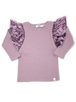 Oh Baby! Oh Baby! Lavender Butterfly Long Sleeve Top