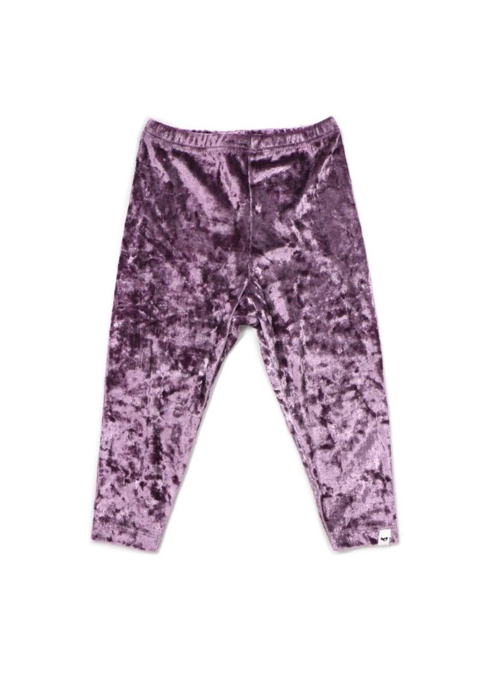 Oh Baby! Oh Baby! Lavender Velvet Legging