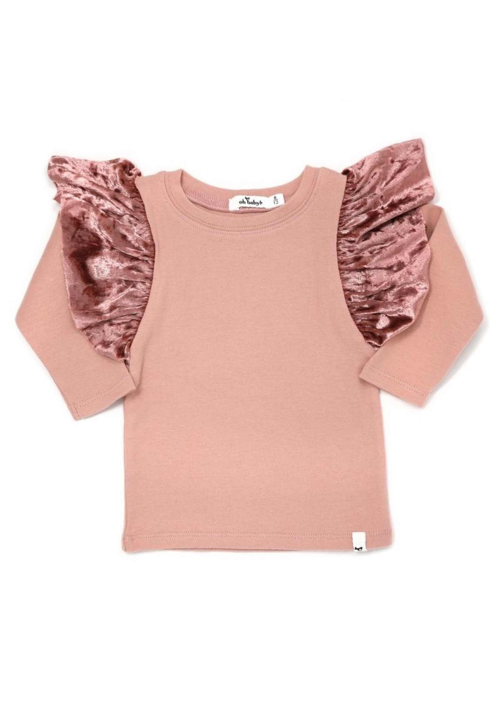 Oh Baby! Oh Baby! Pink Butterfly Long Sleeve Top