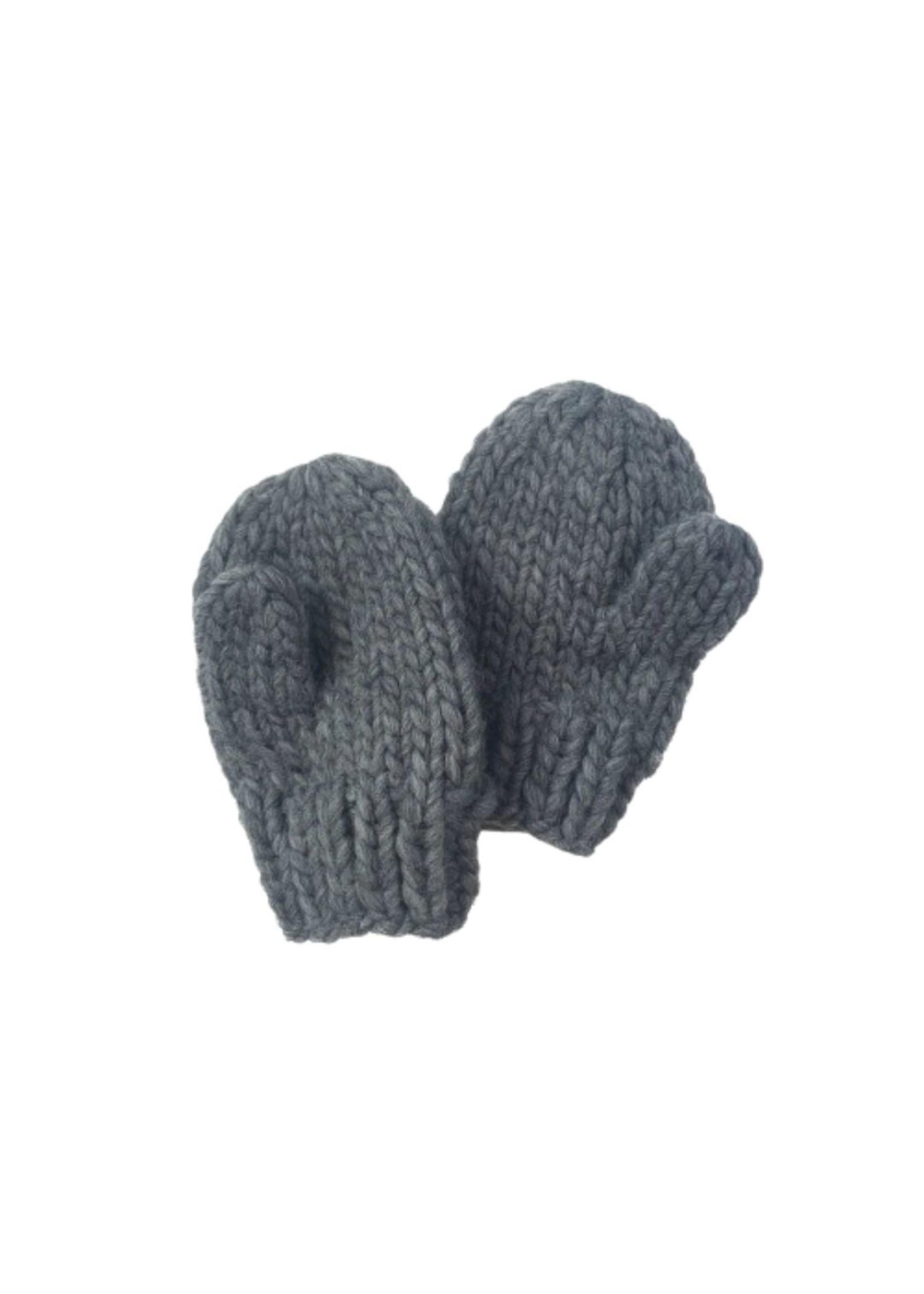 Blue Zinc Knit Mittens