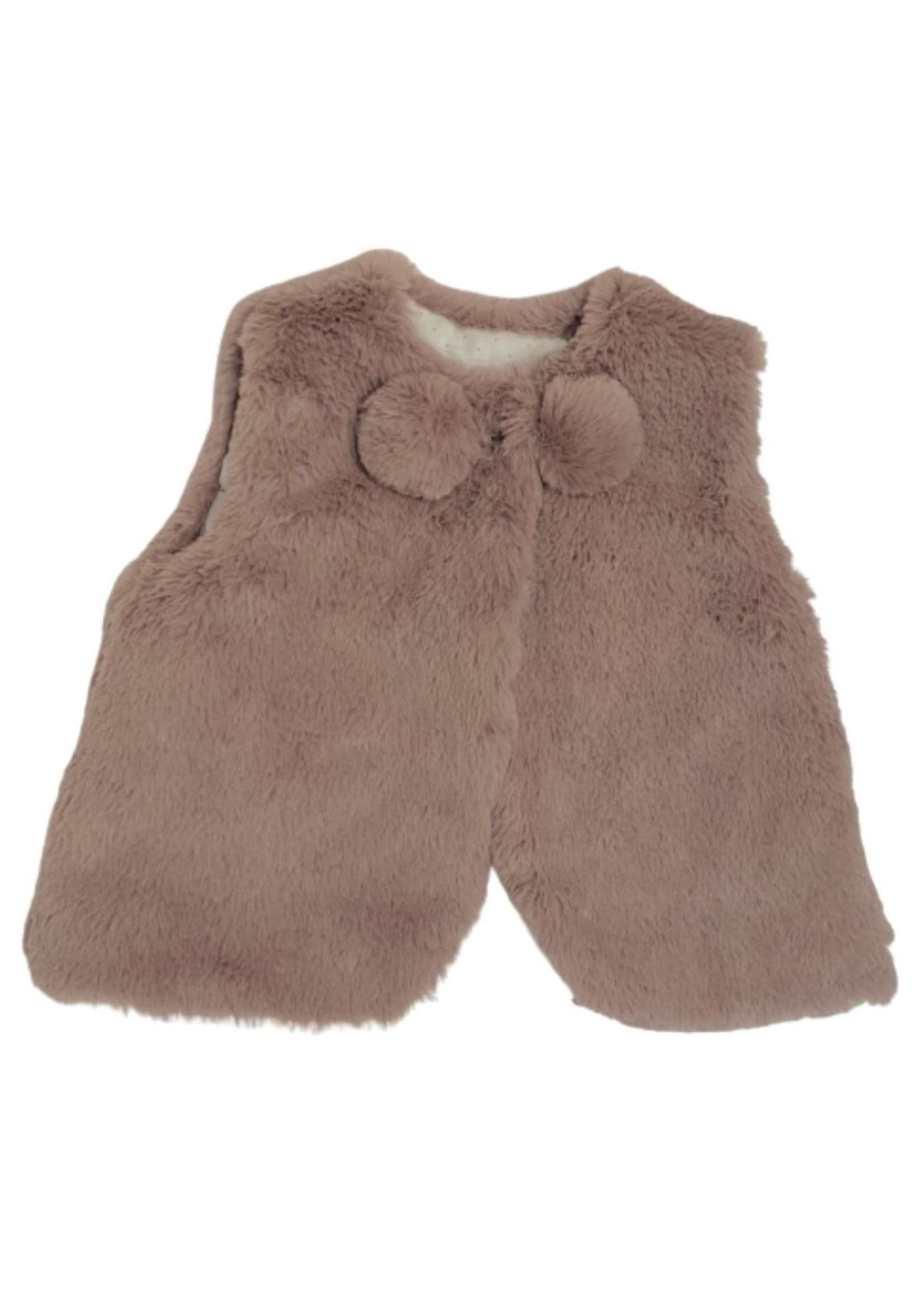 Pink Faux Fur Sleeveless Vest