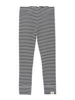 Lilly + Sid Black and White Stripe Rib Legging