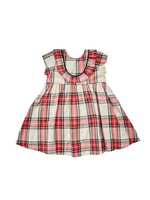 Pink Chicken Pink Chicken Baby Eileen Snow Tartan Dress