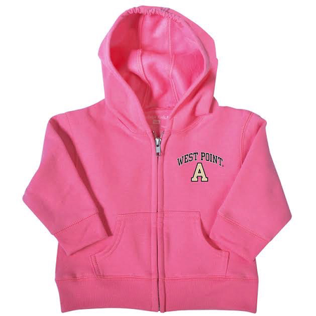 West Point Infant Zip Hood (Gray or Pink)