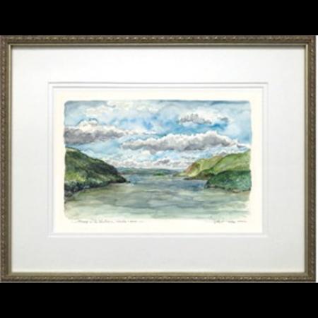 "Framed ""Midday on the Hudson"" Print (M. Mullin)"