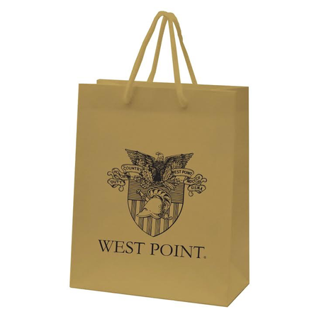 "Gold West Point Crest Gift Bag (10 x 13"")"