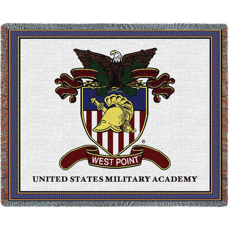 West Point Crest Throw Blanket (52 by 74 inches)