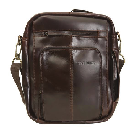 Monterey Canyon Leather Media Bag (West Point) Special Order