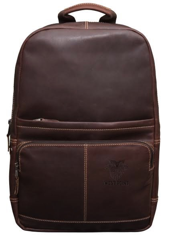 Kannah Canyon Leather Backpack with Crest (Special Order)