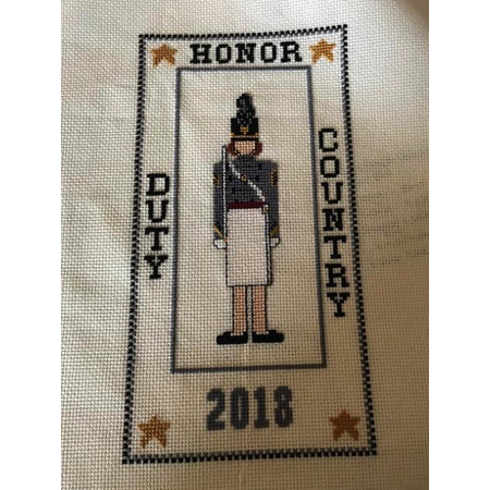 Cadet Sampler Cross Stitch Kit (Female Cadet) (The Posy Collection)
