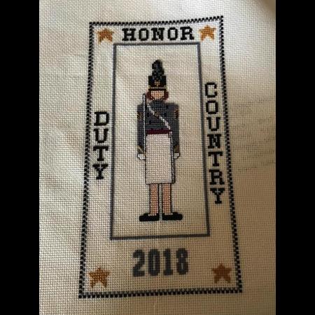 Cadet Sampler Cross Stitch Kit (Female Cadet)