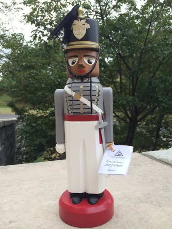 USMA Cadet, Male Nutcracker, African American, Made in Germany.