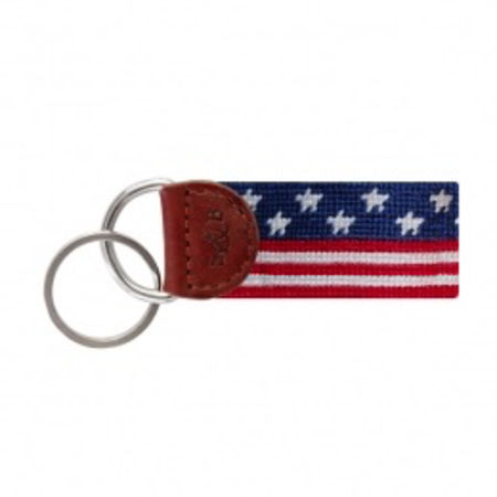 Smathers and Branson Old Glory Needlepoint Key Fob