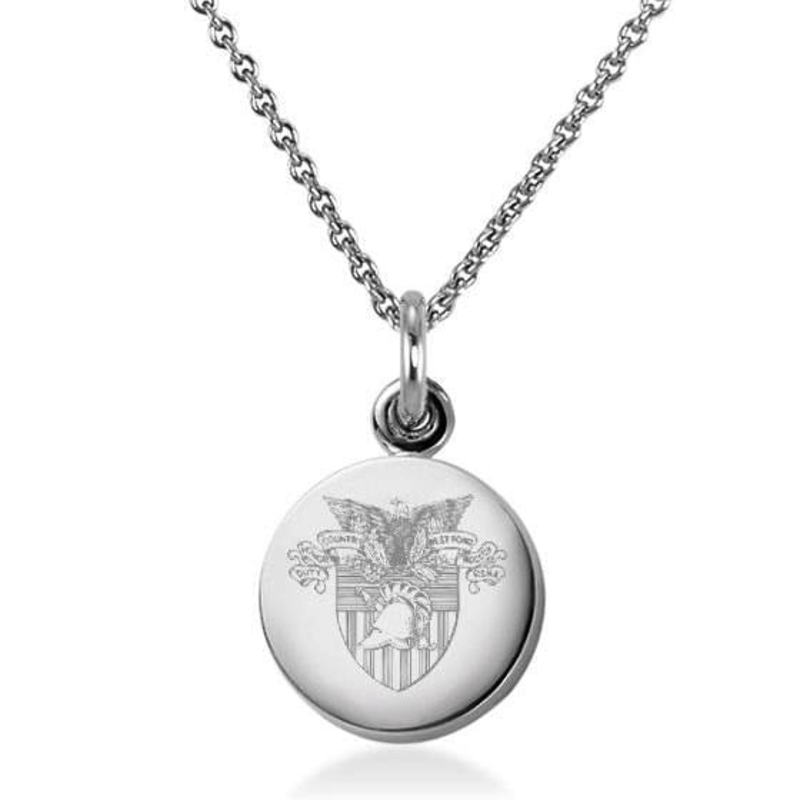 West Point Sterling Silver Necklace with Silver Charm (Special Order)