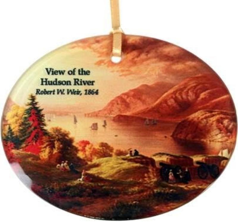Museum Masterworks Hudson River View Glass Ornament