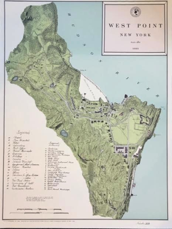 Map of West Point, circa 1883
