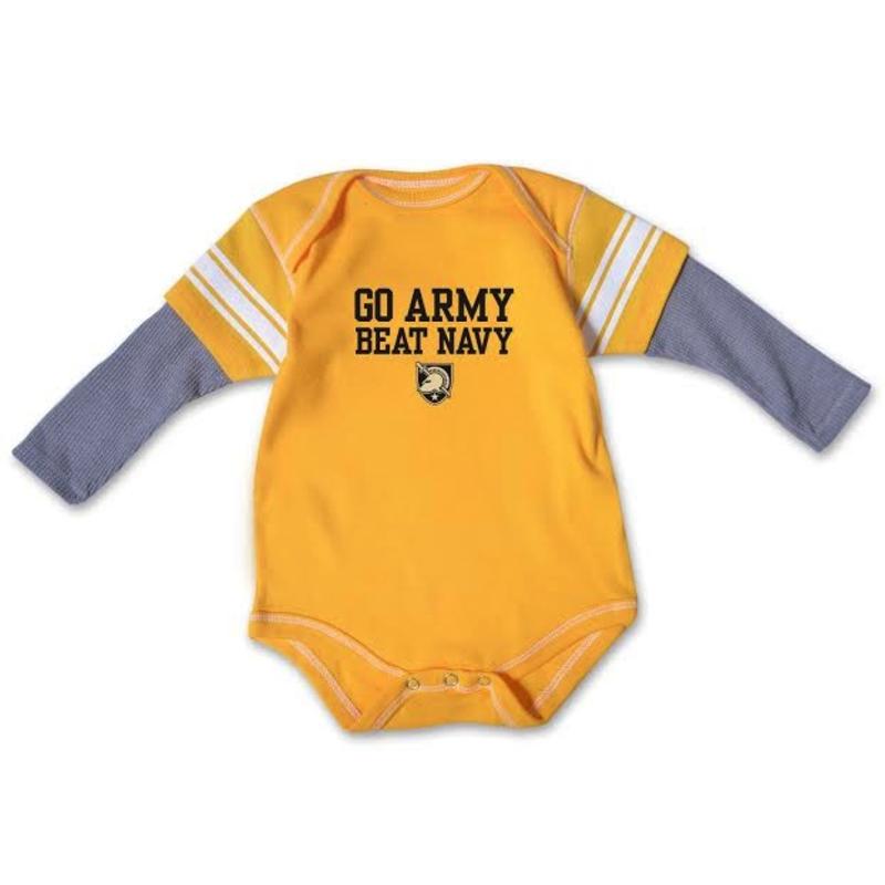 Go Army/ Beat Navy Infant Bodysuit, Size 24 months