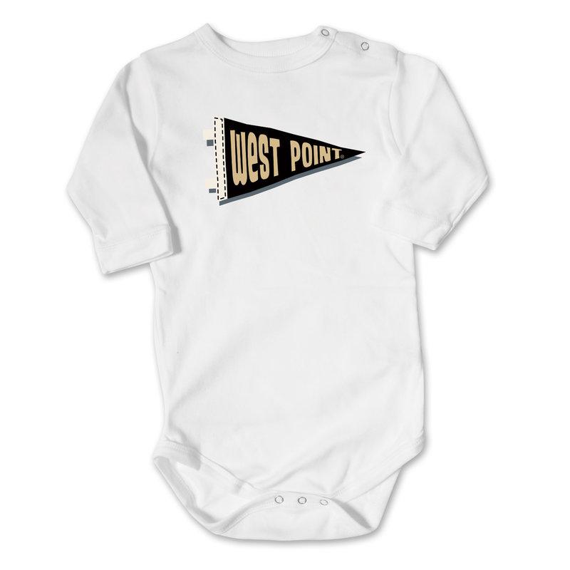College Kids West Point Pennant Infant Onesie