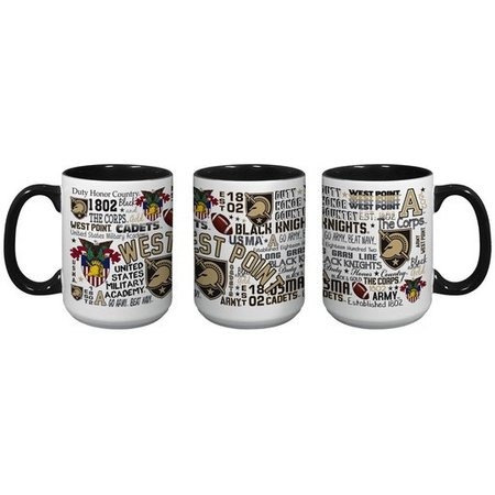 West Point All-Over Post/Map Wrap 15oz. Mug