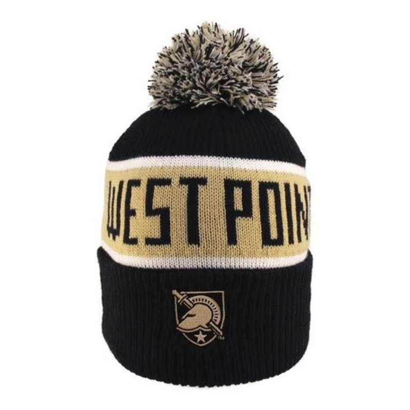 Logo Fit West Point/Army Pom Hat with Athletic Shield