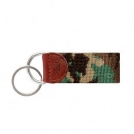 Smathers and Branson Camo Needlepoint Key Fob