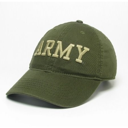 Twill Army Baseball Cap with Gold Embroidery