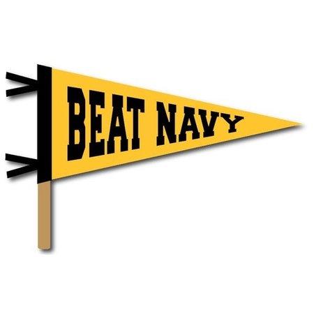 """Beat Navy"" Pennant On A Stick"