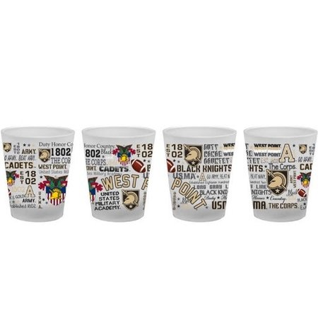 West Point Frosted Shot Glass