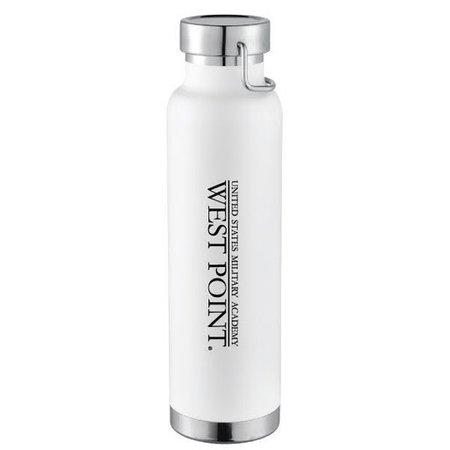 West Point, 22oz Insulated Water Bottle(White)