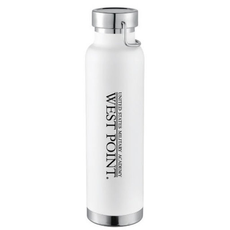West Point Insulated Water Bottle, White