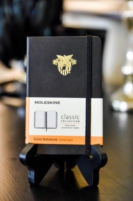 USMA Crest Pocket Size Moleskin Ruled Notebook