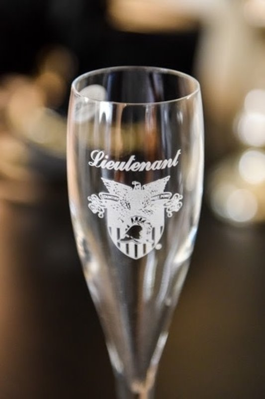 Campus Crystal West Point Toasting Glass (Sold Individually)