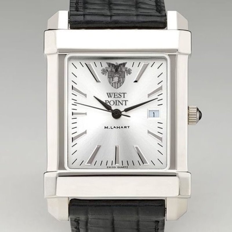 West Point Men's Collegiate Watch with Leather Strap (Special Order)