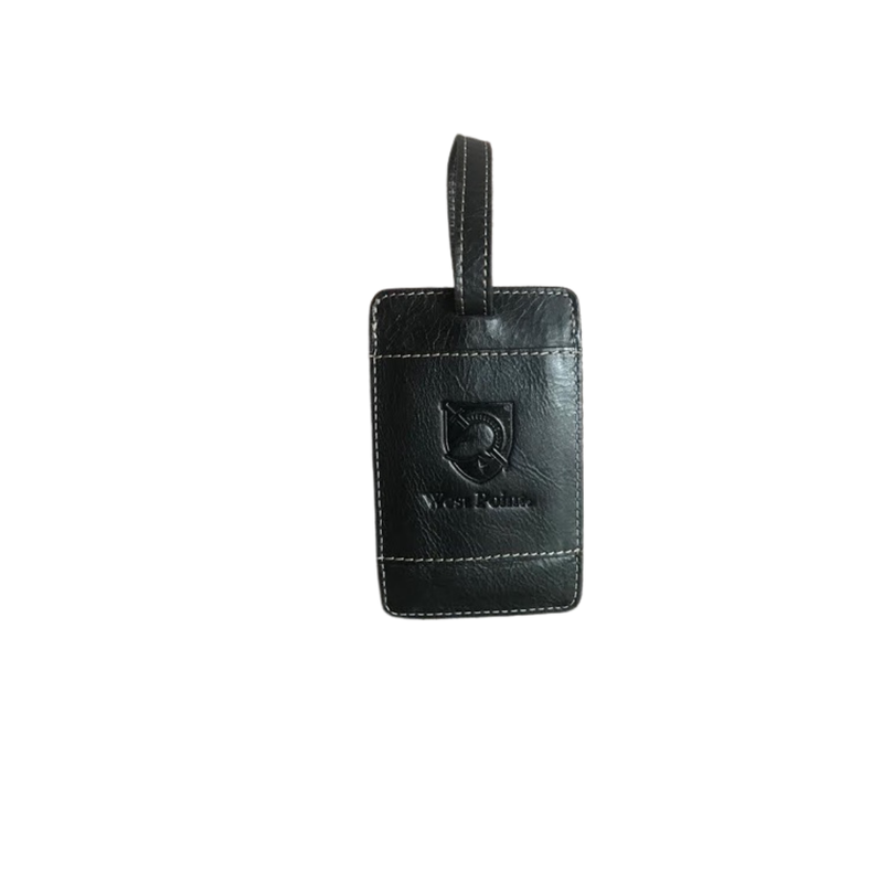 West Point Leather Luggage Tag-Black