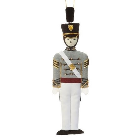 St. Nicholas Co. Male Cadet Ornament with Tarbucket, Caucasian