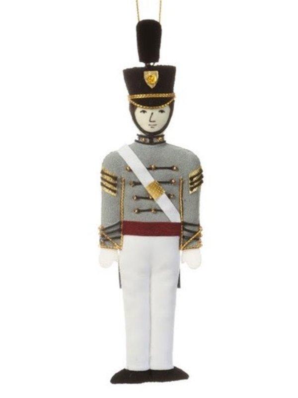 St. Nicholas Co. Male Cadet Ornament with Tarbucket, Caucasian