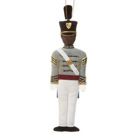 St. Nicholas Co. Male Cadet Ornament with Tarbucket, African American