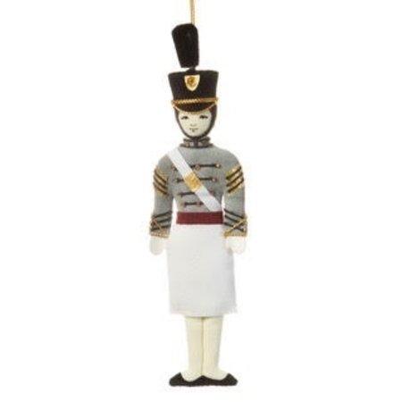 St. Nicholas Co. Female Cadet Ornament with Tarbucket , Caucasian