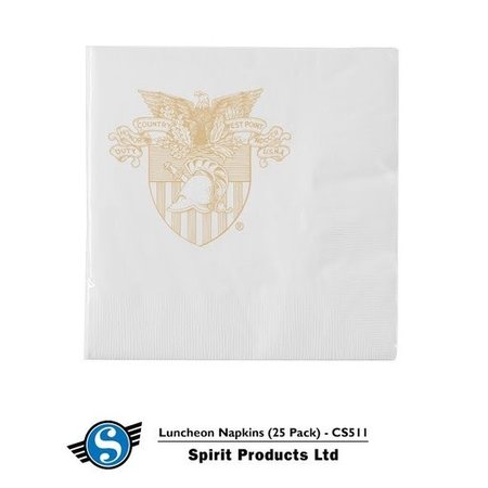West Point Crest Luncheon Napkins, 25 Per Pack