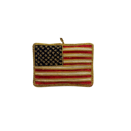St. Nicholas Co. Embroidered American Flag Ornament