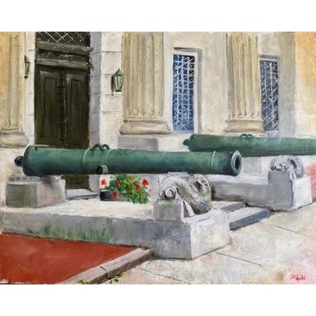 Guns of Cullum Hall Print, (8 x 10, Matted, Signed and Numbered) JG