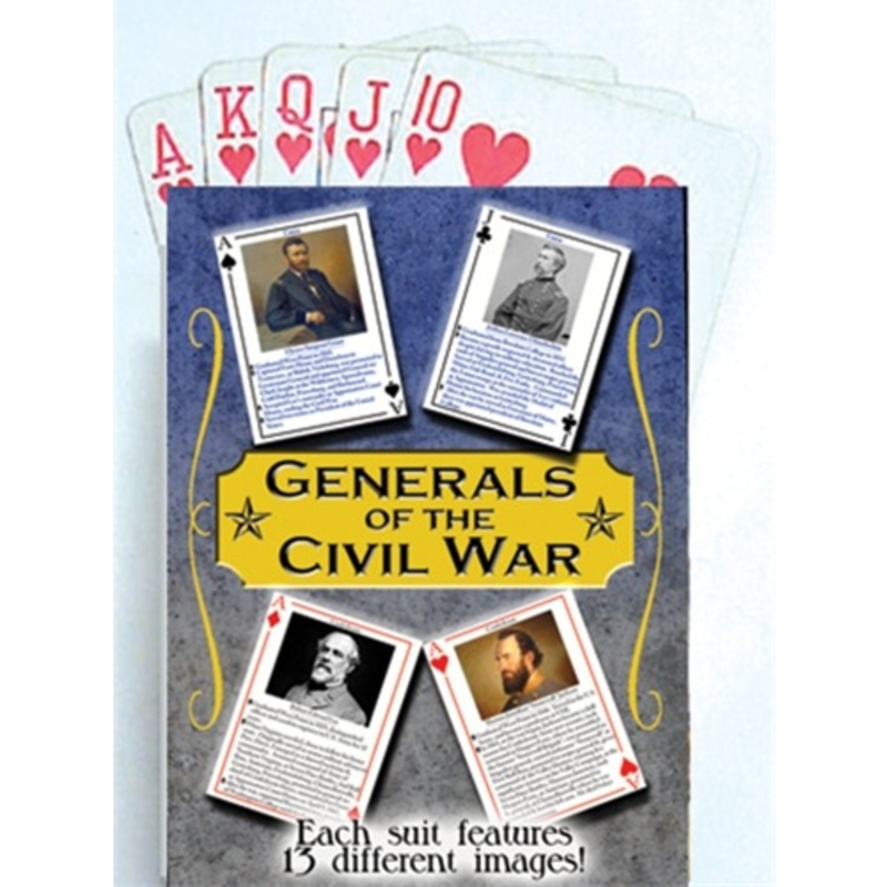 Generals of the Civil War Playing Cards