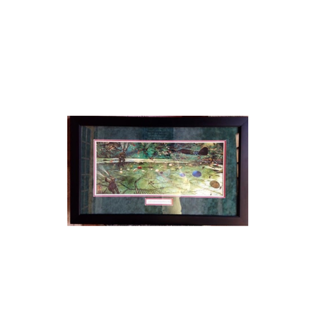 D-Day Mural (Green War Mural) Framed Print (21 x 33 Inches)